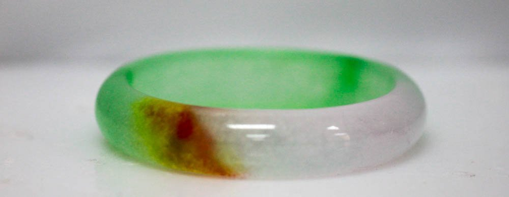 Beautiful Jade  Multi Color Bangle