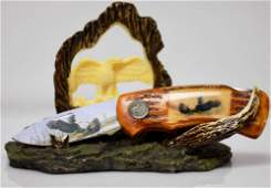 COLLECTIBLE WILD OUT DOORS FIGHTING EAGLES W/ DISPLAY S