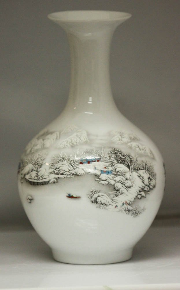 Magnificent Porcelain Vase on a winter day