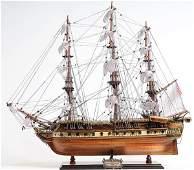 HAND MADE WOODEN USS Constitution Medium W/COA