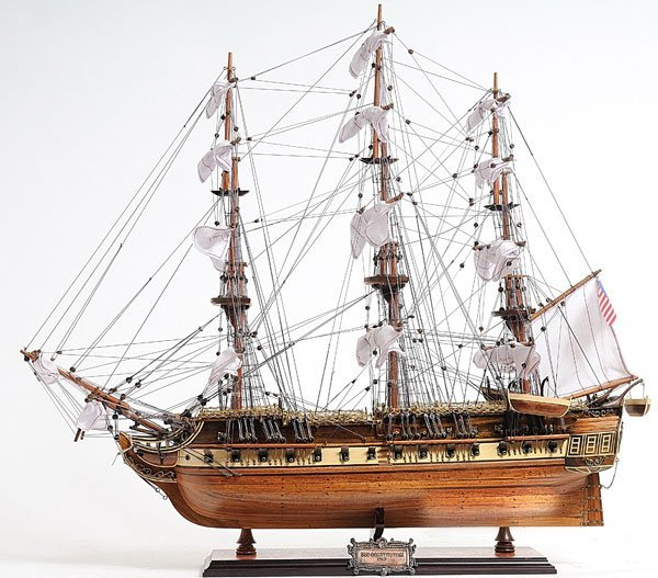 HAND MADE WOODEN USS Constitution Medium W/COA