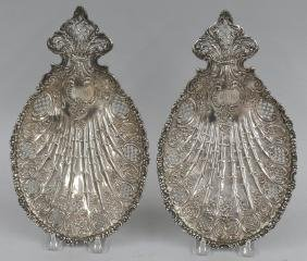PAIR OF TIFFANY STERLING SILVER SWEETMEATS