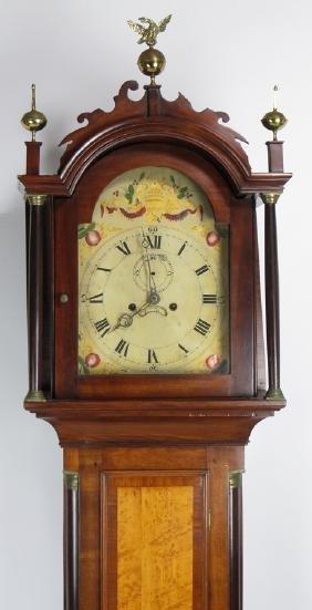 American Federal Mahogany Tall Clock