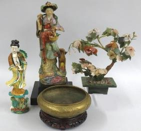 (4) VARIOUS CHINESE OBJECTS