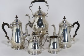5-PIECE STERLING SILVER TEA AND COFFEE SERVICE
