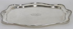 LARGE STERLING SILVER TEA TRAY