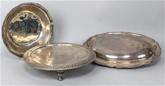 on 3 EARLY MEXICAN SILVER TAZZA