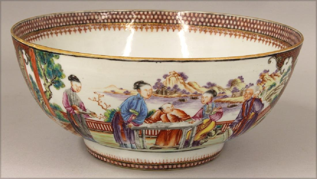 18TH C. CHINESE EXPORT PORCELAIN BOWL - 3