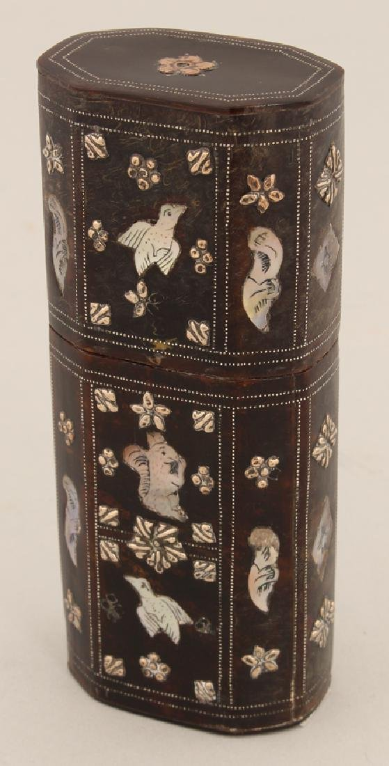 SPANISH COLONIAL INLAID CHEROOT CASE