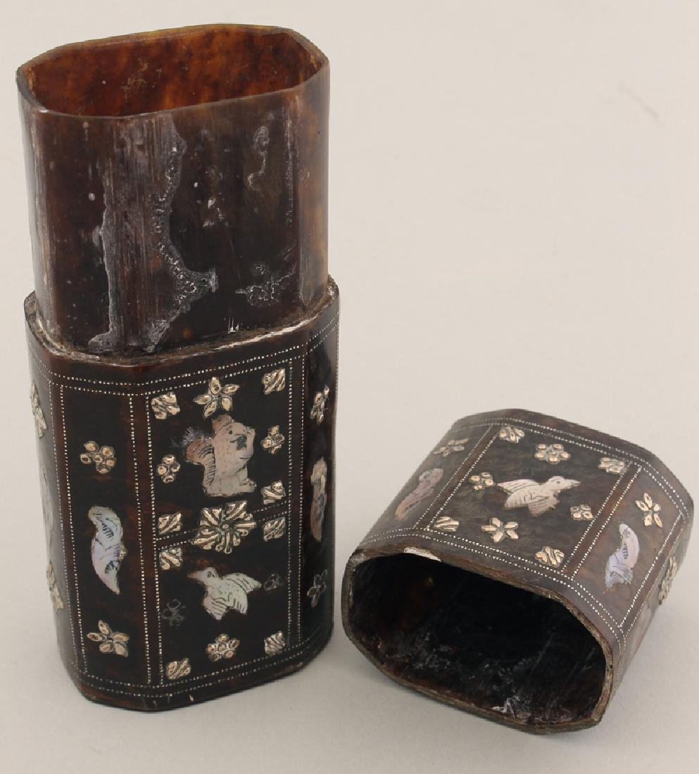 SPANISH COLONIAL INLAID CHEROOT CASE - 2