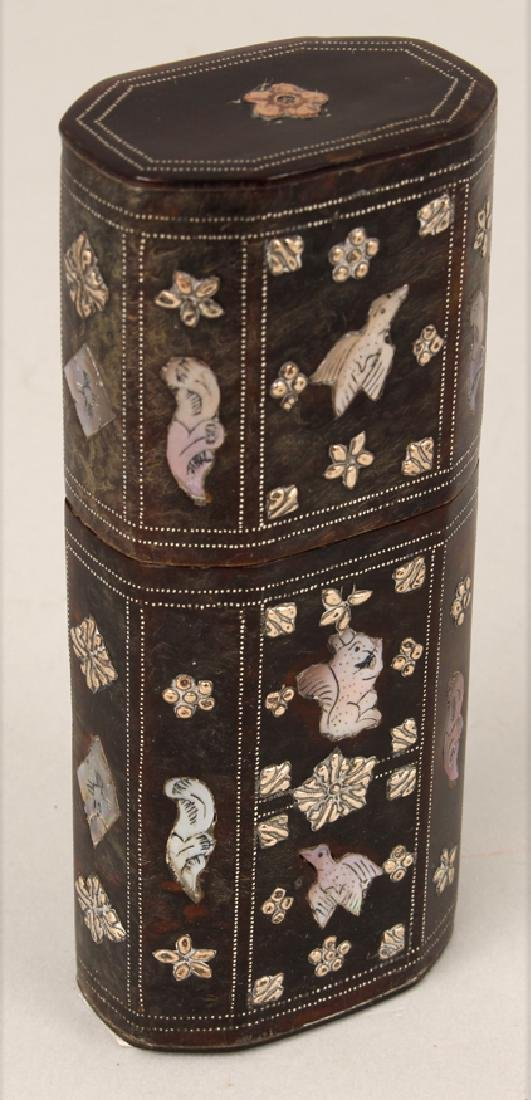SPANISH COLONIAL INLAID CHEROOT CASE - 3