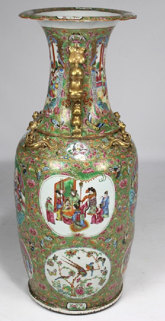 MASSIVE CHINESE EXPORT ROSE MANDARIN VASE - 2