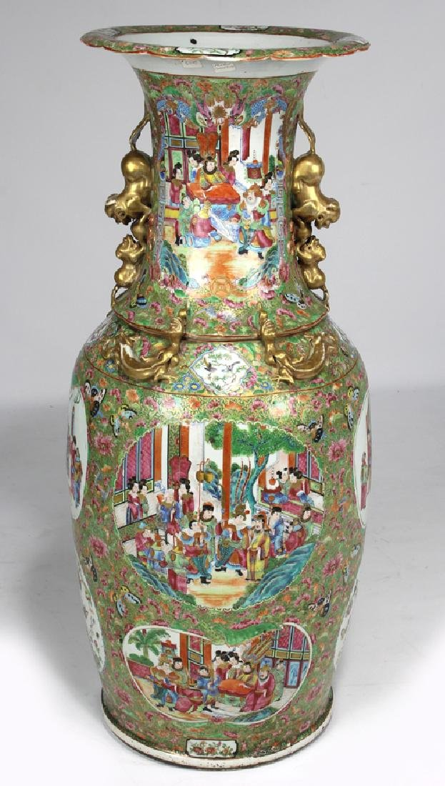 MASSIVE CHINESE EXPORT ROSE MANDARIN VASE - 3