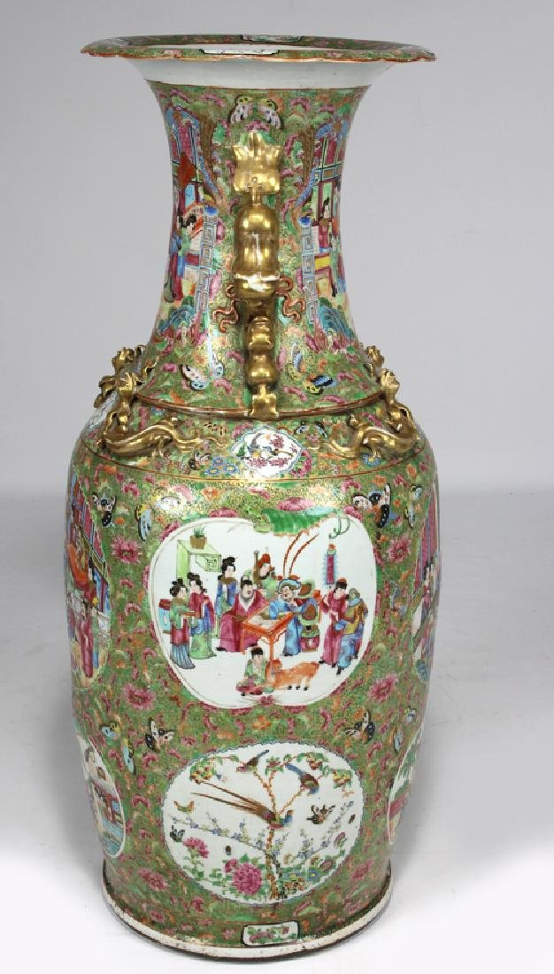MASSIVE CHINESE EXPORT ROSE MANDARIN VASE - 4