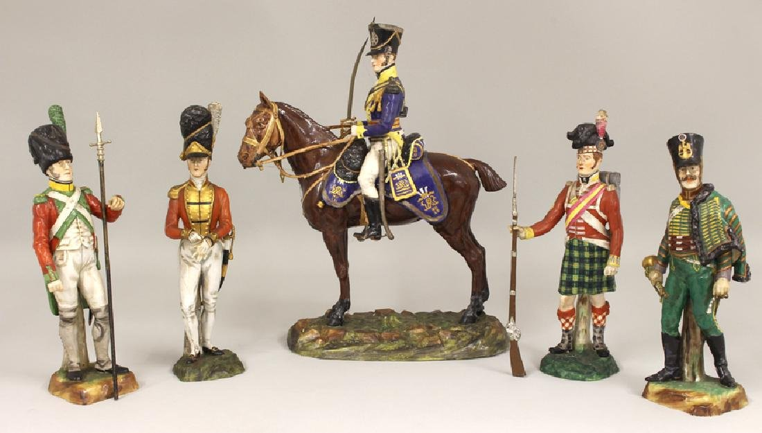 (on 5) DRESDEN WATERLOO CENTERARY PORCELAIN MILITARY
