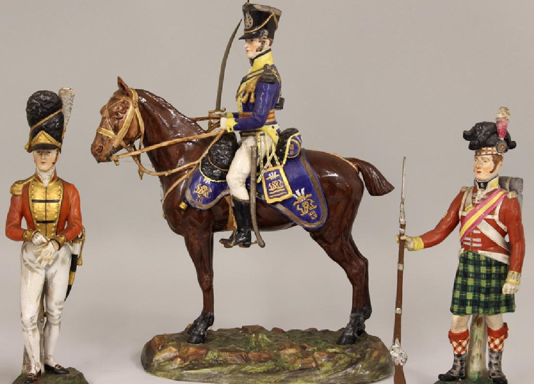 (on 5) DRESDEN WATERLOO CENTERARY PORCELAIN MILITARY - 3