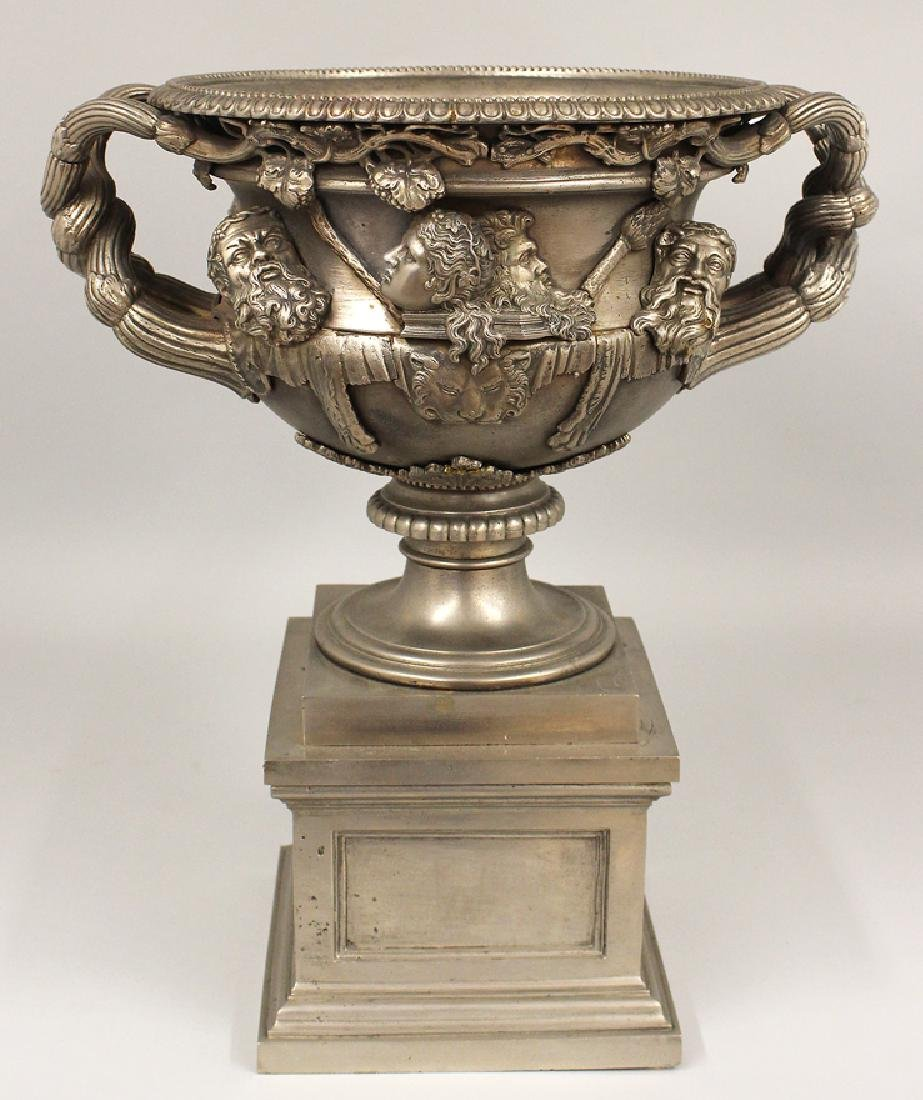 19TH C. ENGLISH POLISHED STEEL WARWICK URN