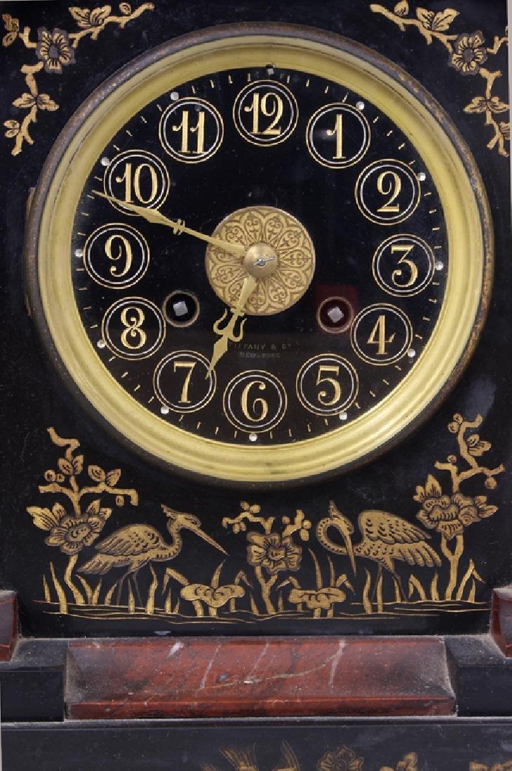 TIFFANY AESTHETIC MOVEMENT MARBLE CLOCK SET - 2