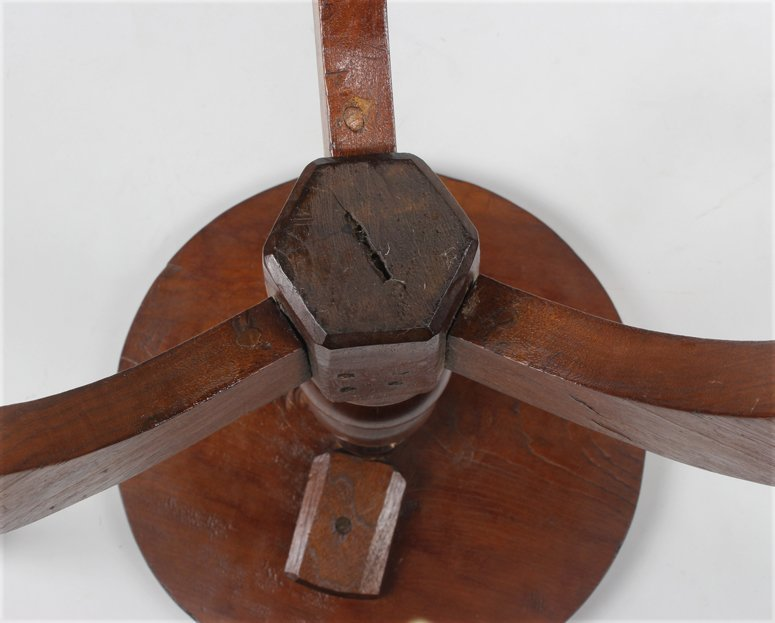 SOUTHERN CARVED WALNUT CANDLESTAND - 2