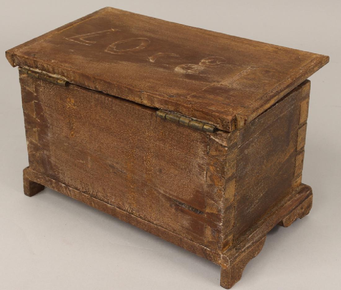 MINIATURE BLANKET CHEST, 1807 - 2