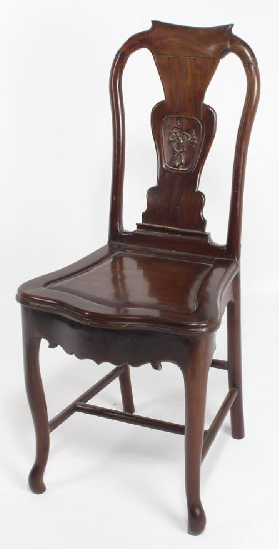 CHINESE HARDWOOD FLAT-TOP DESK AND CHAIR - 2