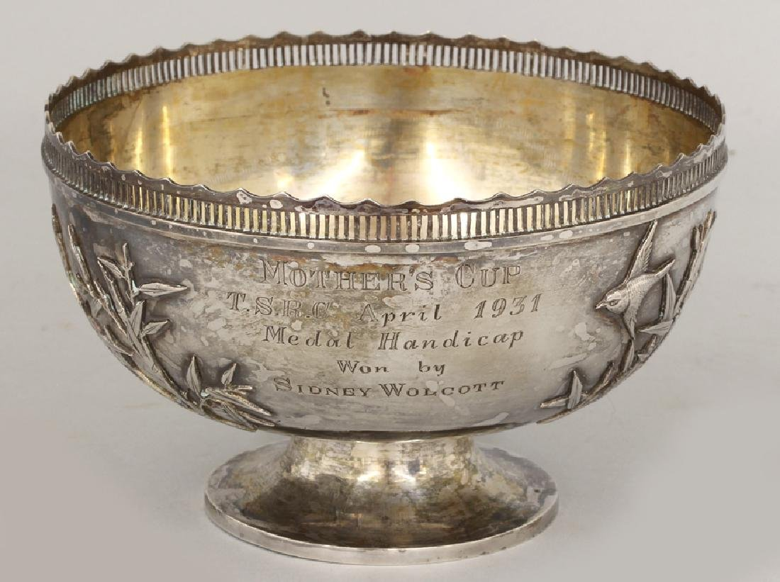 CHINESE EXPORT SILVER PRESENTATION BOWL - 3