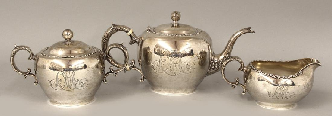 3-PIECE STERLING SILVER TEA SET
