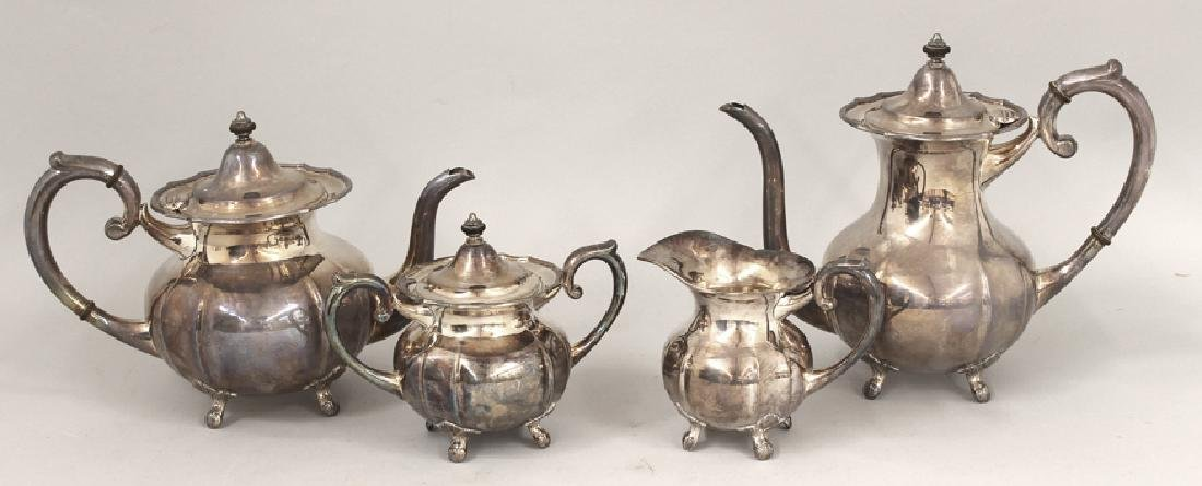 4-PIECE STERLING SILVER TEA AND COFFEE SET