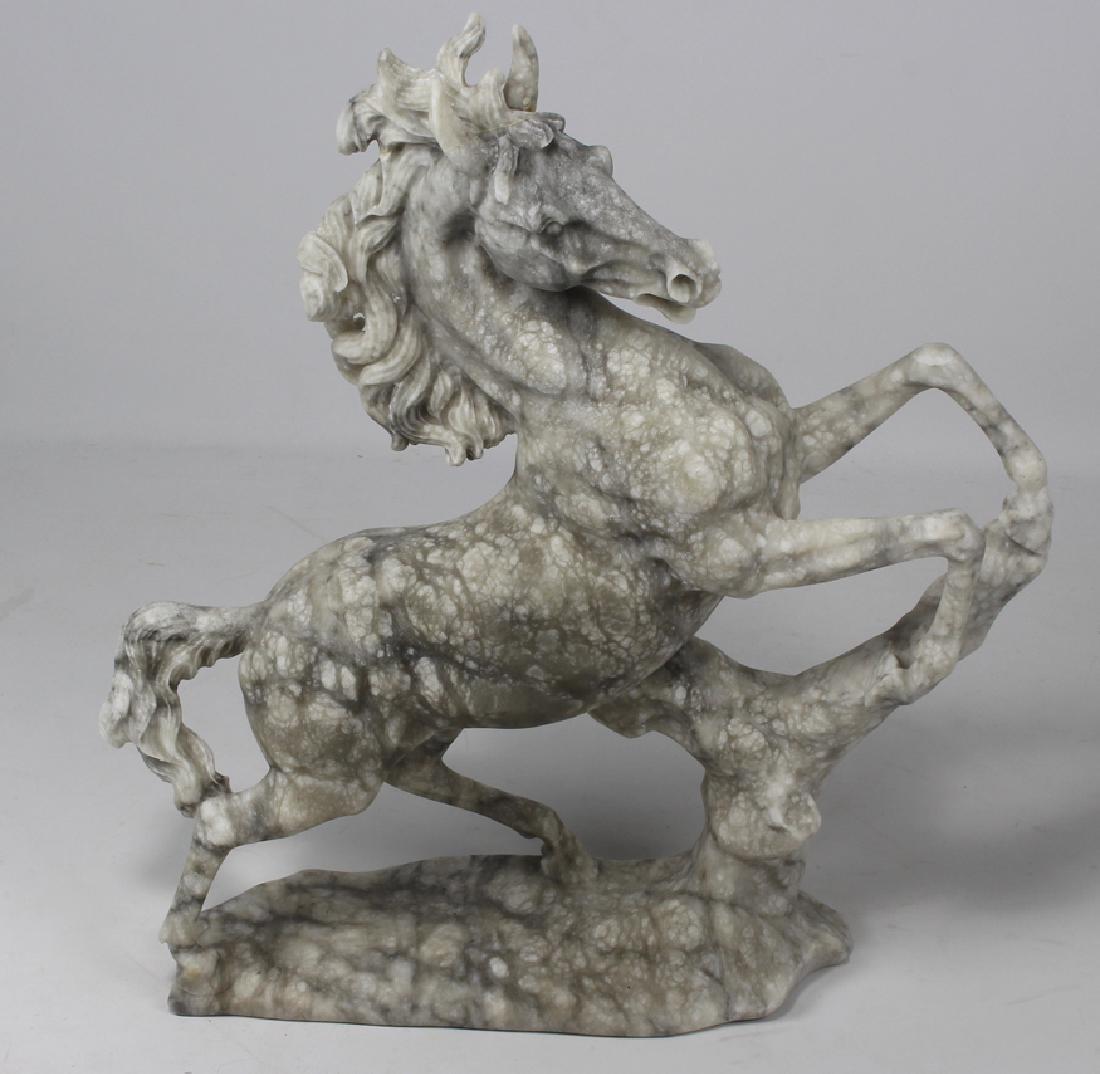 DECORATIVE CAST MARBLE COMPOSITE HORSE
