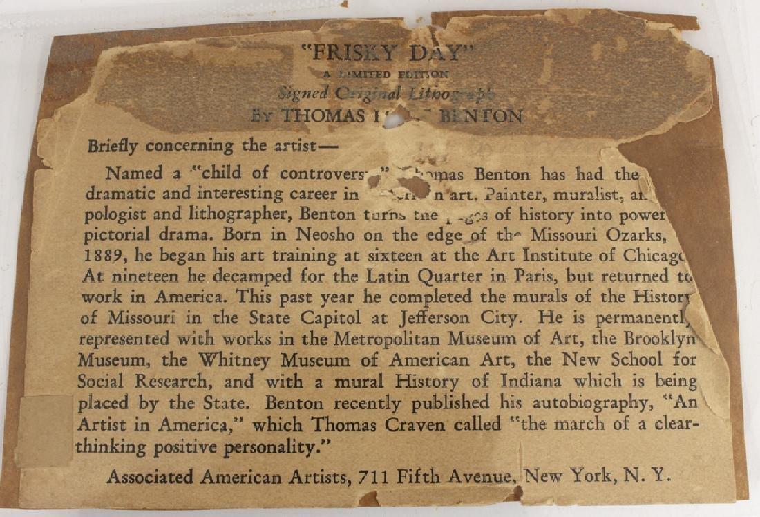 THOMAS HART BENTON (American, 1889-1975) - 3