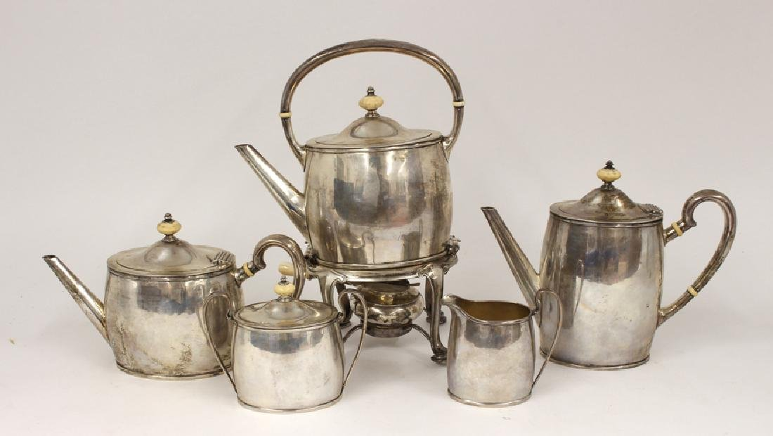 5-PIECE STERLING COFFEE AND TEA SERVICE,   ARTHUR