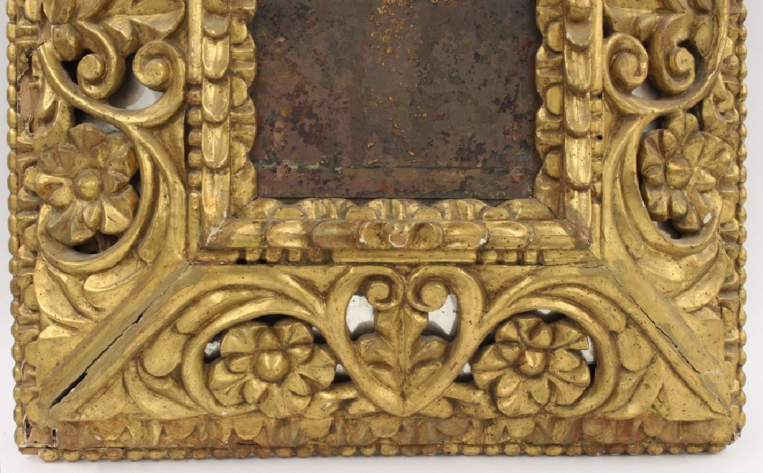 SPANISH COLONIAL CARVED GILTWOOD FRAME - 2