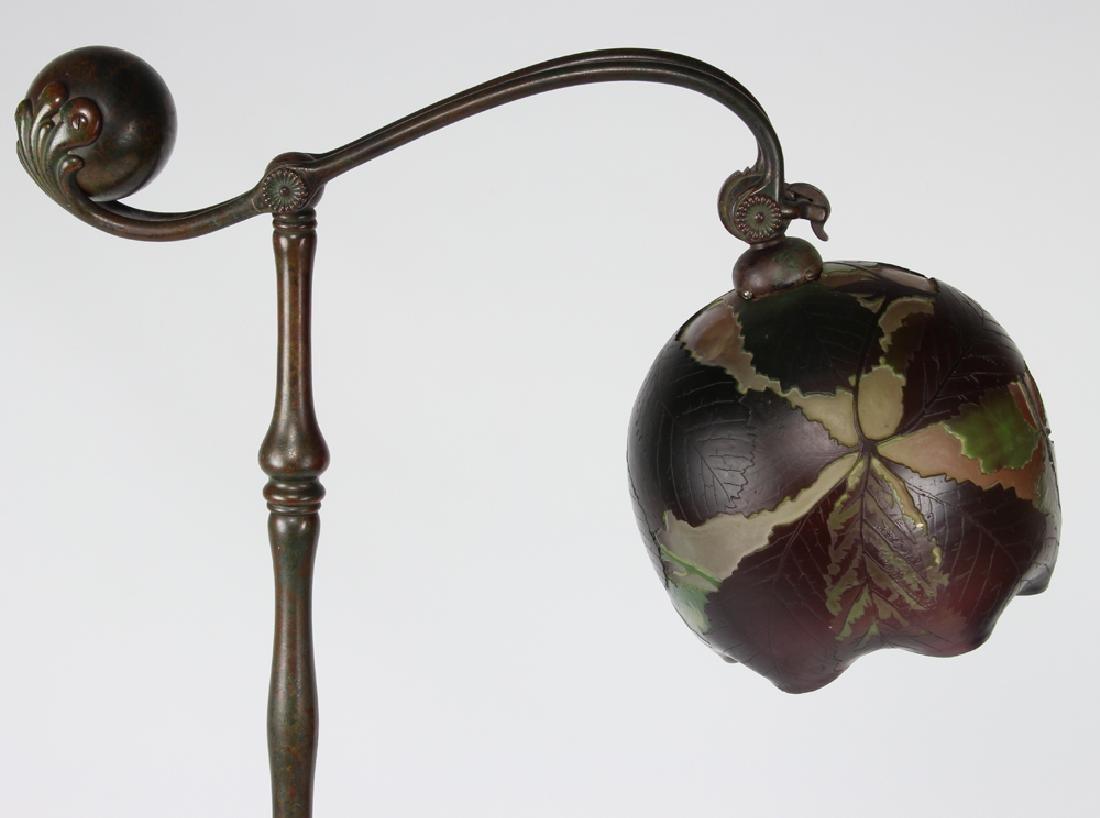 TIFFANY COUNTER-BALANCE BRONZE FLOOR LAMP