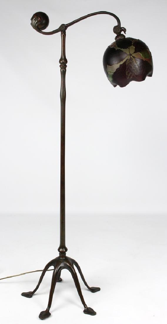 TIFFANY COUNTER-BALANCE BRONZE FLOOR LAMP - 2