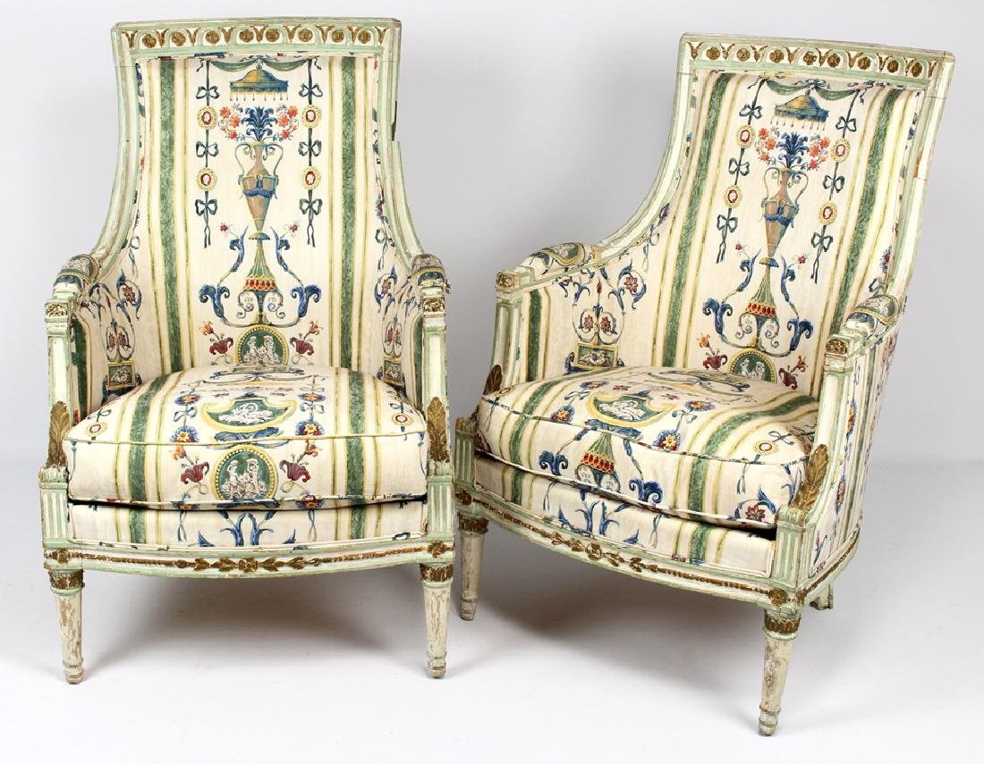 PAIR OF NORTHERN ITALIAN NEOCLASSICAL ARMCHAIRS