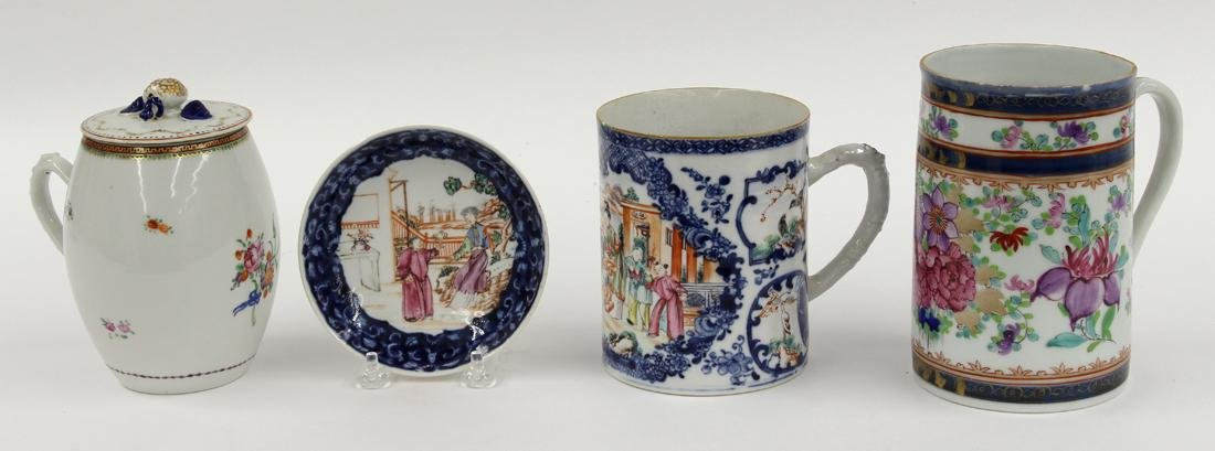 (on 4) GROUP OF CHINESE EXPORT PORCELAINS