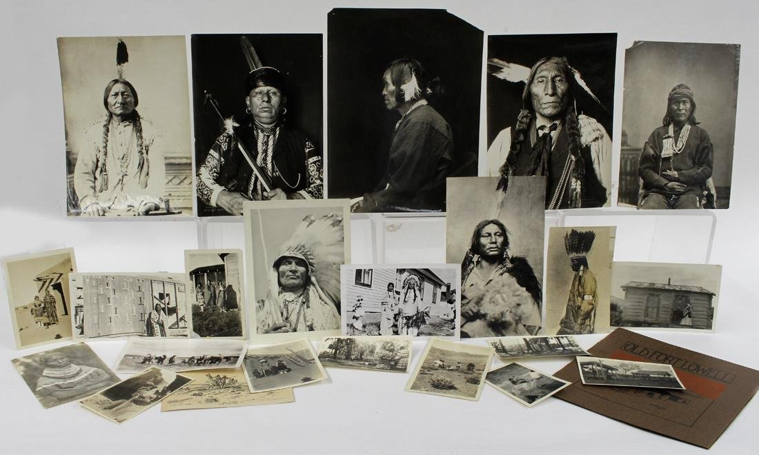 GROUP OF NATIVE AMERICAN PHOTOGRAPHS
