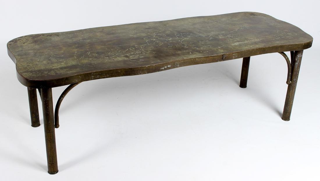 LAVERNE MID-CEN. MODERN LOW TABLE, ETRUSCAN