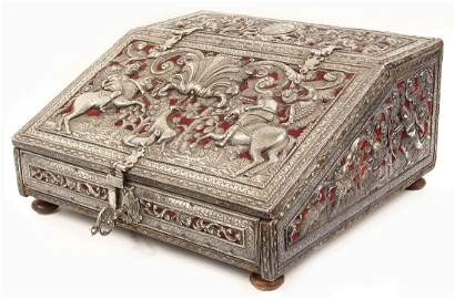 EXCEPTIONAL SPANISH COLONIAL SILVER-CLAD PORTABLE