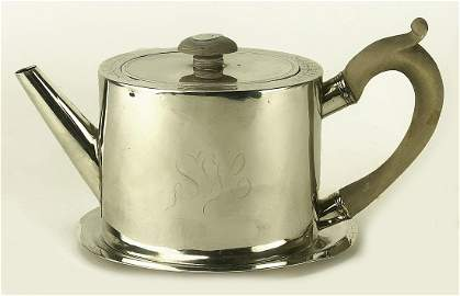 PAUL REVERE JR. SILVER TEAPOT WITH UNDERTRAY
