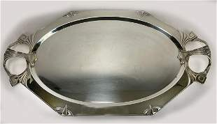 GERMAN ART NOUVEAU PLATED SILVER TRAY