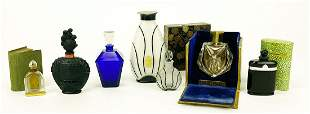 (on 7) VARIOUS VINTAGE FRENCH PERFUME BOTTLES