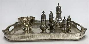 (on 7) VARIOUS SILVER, STERLING AND PLATED TABLEWARE