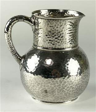 TIFFANY ARTS AND CRAFTS STERLING SILVER HAND-HAMMERED