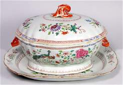 209 18TH C CHINESE EXPORT FAMILLE ROSE COVERED TUREEN