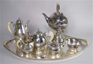 275: (on 7) GEORG JENSEN STERLING SILVER COFFEE AND TEA