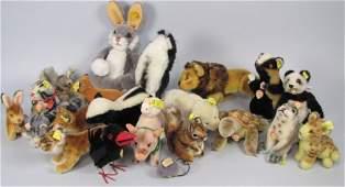 319C: LARGE BOXLOT OF SMALL STEIFF STUFFED ANIMALS