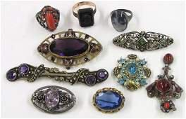 602 on 10 COLLECTION OF VICTORIAN AND CLASSIC PINS A