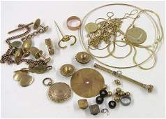 613 LOT OF 14K GOLD JEWELRY AND SCRAP ITEMS