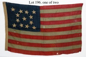196: (on 2) THIRTEEN STAR AMERICAN FLAGS